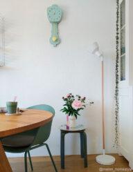 Skandinavische Stehlampe weiß