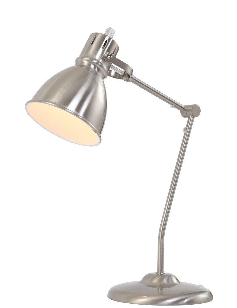 verstellbare schreibtischlampe trio leuchten jasper stahlgrau. Black Bedroom Furniture Sets. Home Design Ideas