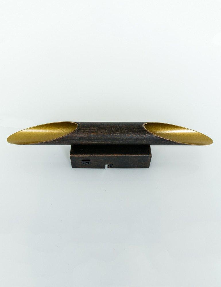 stab wandlampe trio leuchten bolero schwarz gold. Black Bedroom Furniture Sets. Home Design Ideas