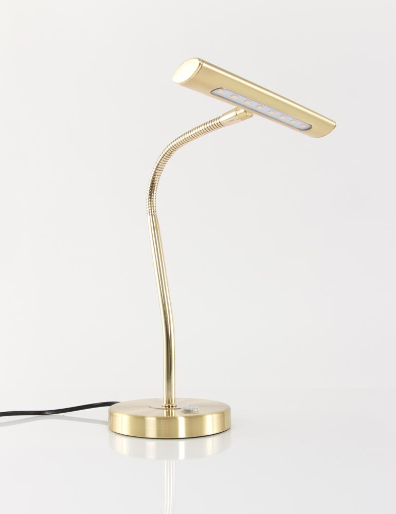 Trio Leuchten LED Schreibtischleuchte // Leselampe Altmessing Dimmer flexibel