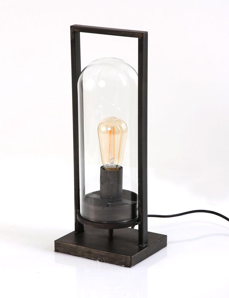 einzigartige tischlampe light living jurre schwarz. Black Bedroom Furniture Sets. Home Design Ideas