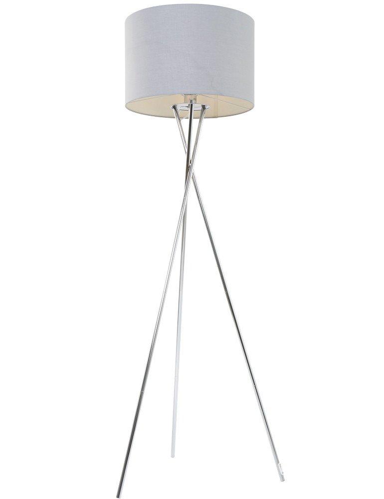 Designer Stehleuchte Globo Gustav Stahl 160cm - Vivaleuchten.de