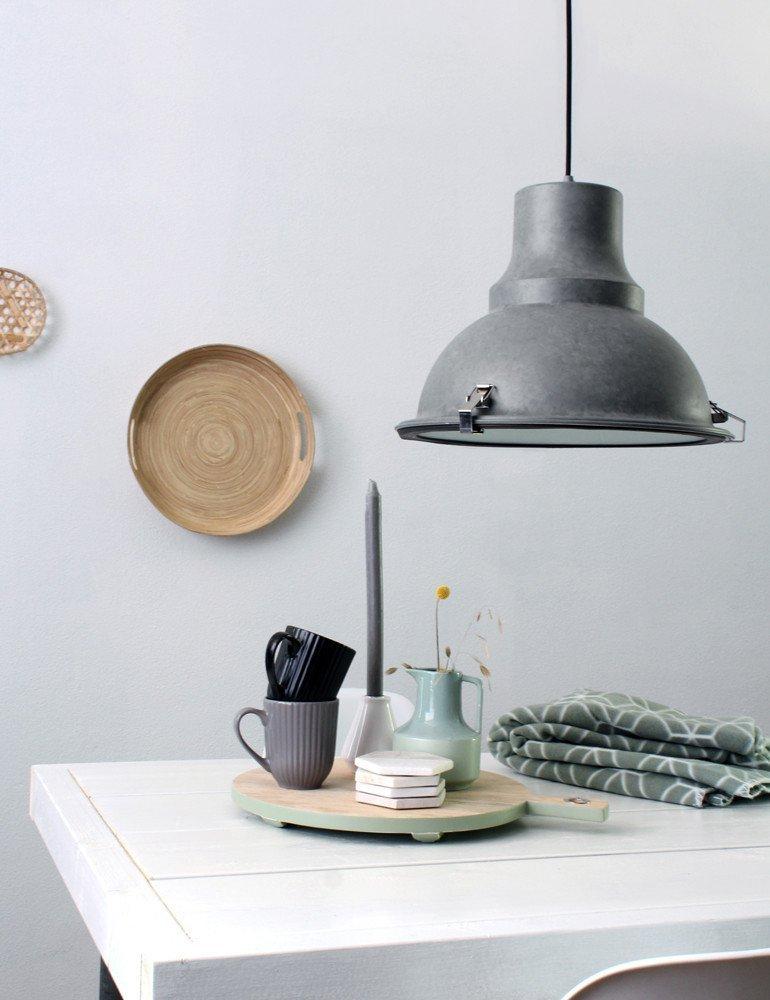 industrielle pendelleuchte steinhauer parade grau. Black Bedroom Furniture Sets. Home Design Ideas
