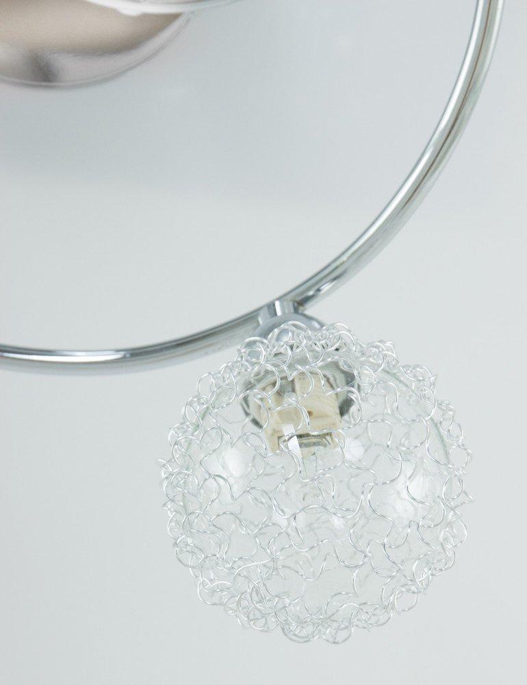 Moderne deckenlampe globo orina chrom 3 lichtig for Moderne deckenlampe