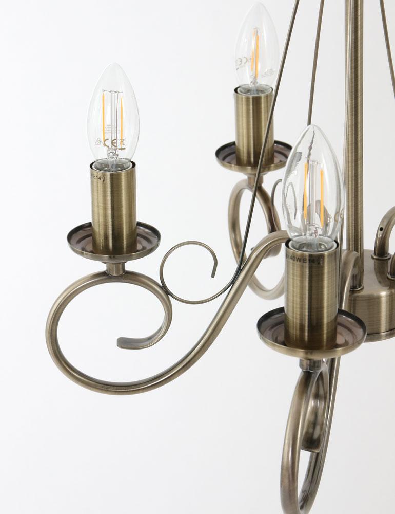 sch ne pendelleuchte globo truncatus bronze 5 lichtig. Black Bedroom Furniture Sets. Home Design Ideas