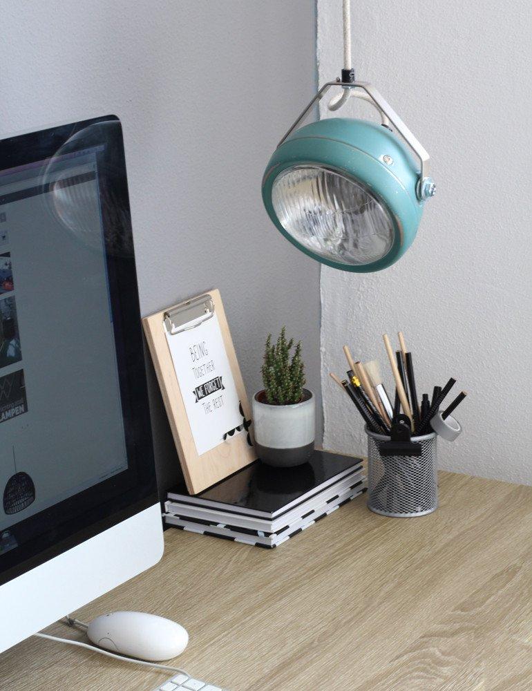 industrielle h ngeleuchte lichtlab no 5 aqua 17 cm. Black Bedroom Furniture Sets. Home Design Ideas