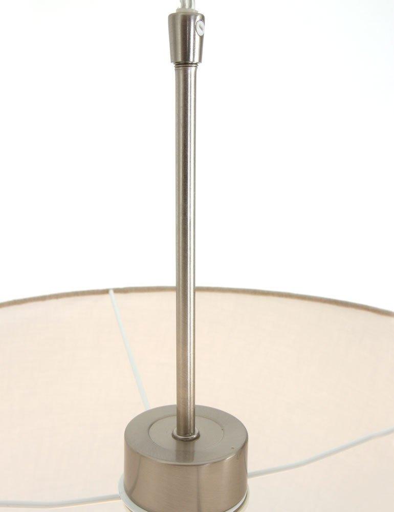 pendelleuchte aus stahl steinhauer gramineus brauner schirm. Black Bedroom Furniture Sets. Home Design Ideas