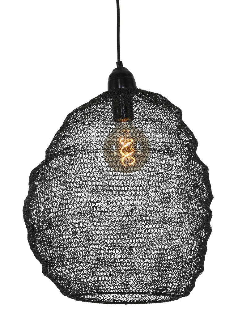 trendige lampe von light living nina schwarz 45cm. Black Bedroom Furniture Sets. Home Design Ideas