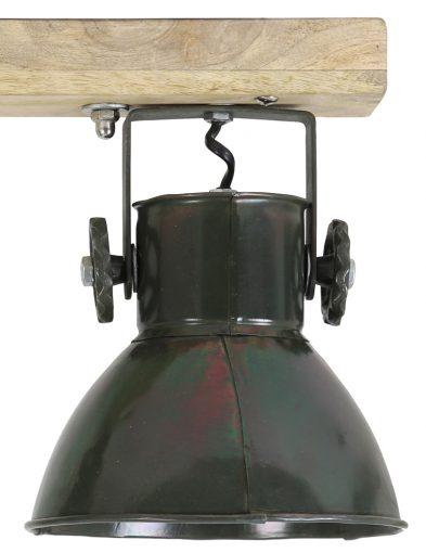 2-flammige-Deckenleuchte-Industrial-Army-Green-mit-Holz-1972ZW-1