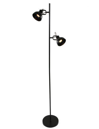 2-flammige Stehleuchte Schwarz-1511ZW