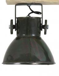 3-flammige-Deckenleuchte-Armeegrün-mit-Holzbalken-1971ZW-1
