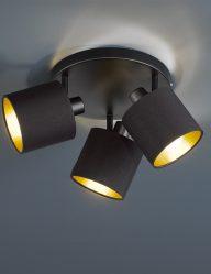 3-flammige-Deckenleuchte-Schwarz-mit-Goldem-1654ZW-1