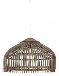 Braune Bambus Hängelampe-1966BE
