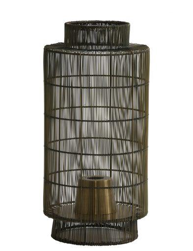 Braune Käfig Tischleuchte-1925BR