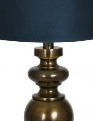 Bronze-Tischlampe-mit-Blaue-schirm-9267BR-1