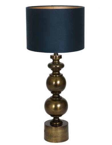 Bronze Tischlampe mit Blaue schirm-9267BR