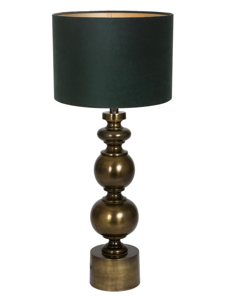 bronze tischlampe mit gr ne schirm light living pagai. Black Bedroom Furniture Sets. Home Design Ideas