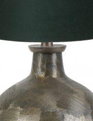 Bronze-kugelform-Tischlampe-mit-Grüne-Schrim-9257BR-1