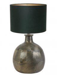 Bronze kugelform Tischlampe mit Grüne Schrim-9257BR