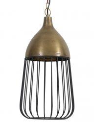 Bronzefarbene Käfiglampe-2011BR