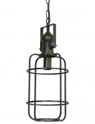 Bronzefarbene Laternen-Hängelampe-1767BR