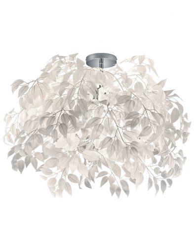 Deckenleuchte mit Weißen Blättern-1828CH