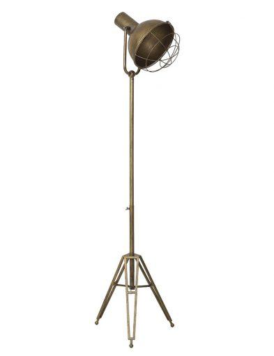 Dreibeinige robuste Stehlampe aus Bronze-1923BR