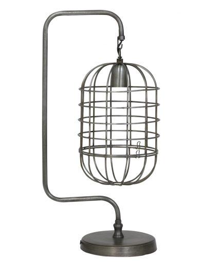 Einzigartige Stahltischlampe mit Drahtschirm-1921ST