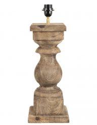 Geschnitzter ländlicher Lampensockel aus Holz-2050BE