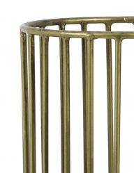 Goldene-Käfig-Tischlampe-mit-Schwarzem-Aufsatz-1959BR-1