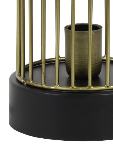 Goldene-Käfig-Tischlampe-mit-Schwarzem-Aufsatz-1959BR-2