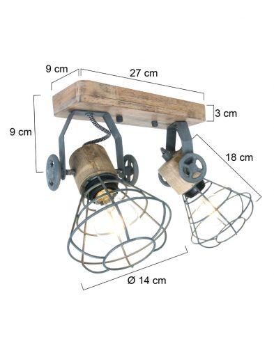 Graue-Deckenlampe-1579GR-4