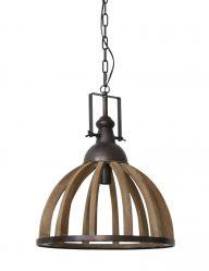 Große Hängelampe aus Holz-1675B
