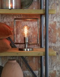 Grobe Industrie-Stahltischlampe-1946ST