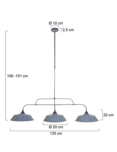 Hängelampe-3-flammig-Grau-1319GR-5