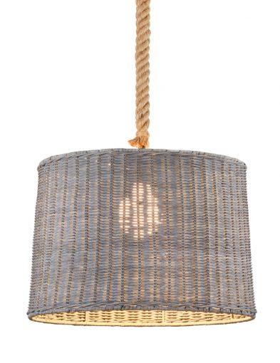 Hängelampe aus geflochtenem Bambus-1612GR