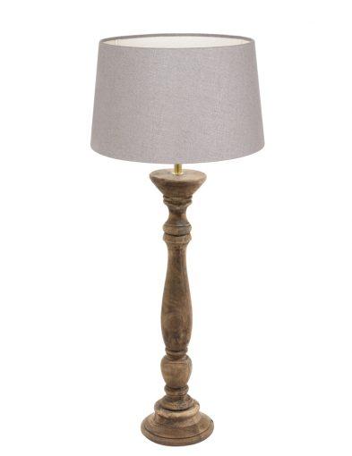 Holzfuß mit Graue Lampenschirm-9178BE