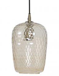 Industrie-Esstischlampe aus Glas-1768BR
