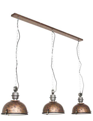 Industrie Hängeleuchte mit 3 Lampen-7980B
