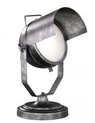 Industrielle Tischlampe mit schwenkbarer Haube-1801ST
