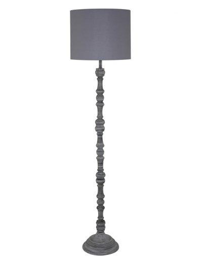 Ländliche Stehlampe aus Holz Grau-1640GR
