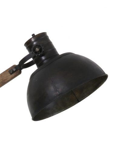 Ländliche-Stehlampe-aus-Holz-mit-Schwarzem-Schirm-2089ZW-2