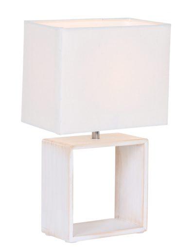 Ländliche Tischleuchte Weiß-1647W