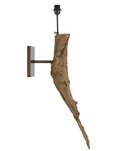 Ländliche Wandleuchte aus grobem Holz-2045BE
