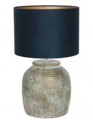 Lampe mit Fuß aus Stein-9189BR