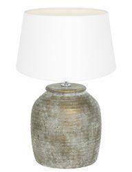 Lampe mit Fuß aus Stein-9190BR