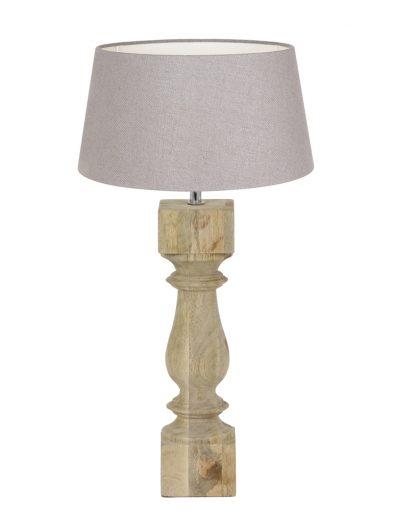 Lampe mit Holzfuß-9184BE