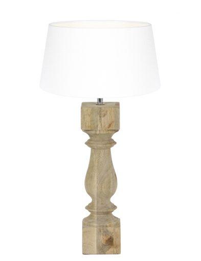 Lampe mit Holzfuß-9185BE