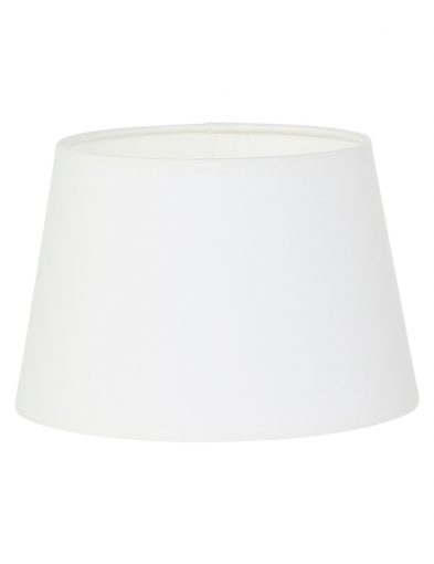 Lampenschirm stoff weiß-K32612S