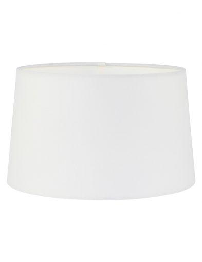Lampenschirm weiß stoff-K58942S
